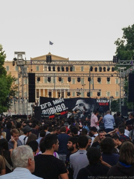 Athens 1st anniversary of Pavlos Fyssas murder in Syntagma 012