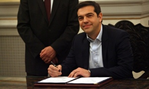 Syriza party leader Alexis Tsipras