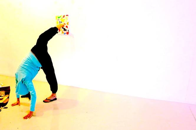 Dancer painting Canvas Martin Creed Exhibition